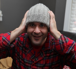 mark in his hat