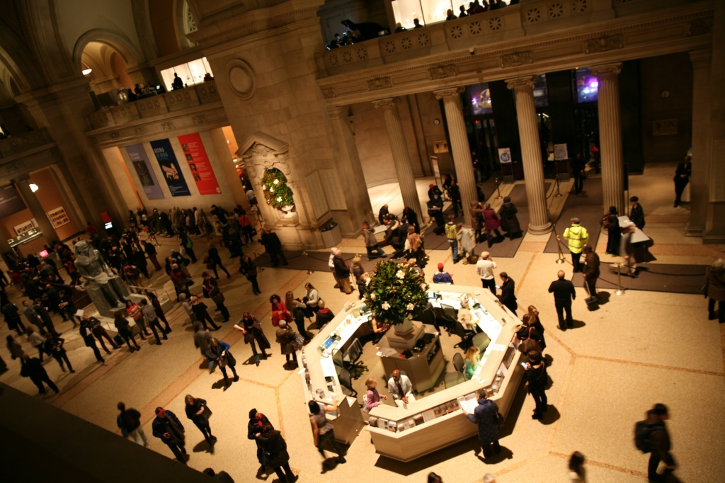 museum NYC night lobby
