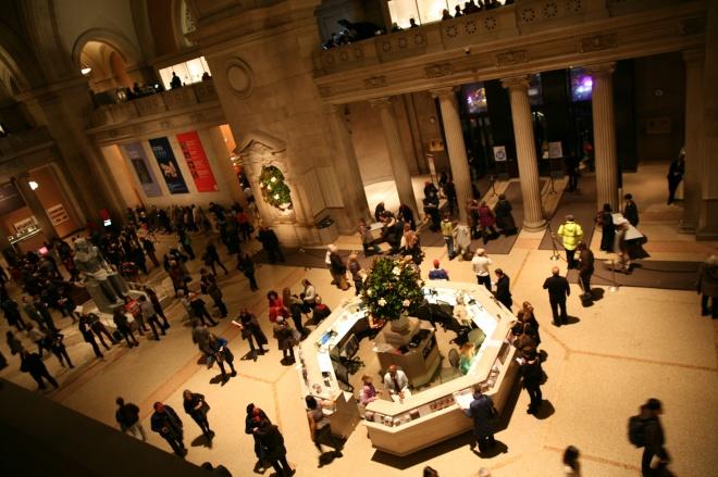 museum NYC night lobby
