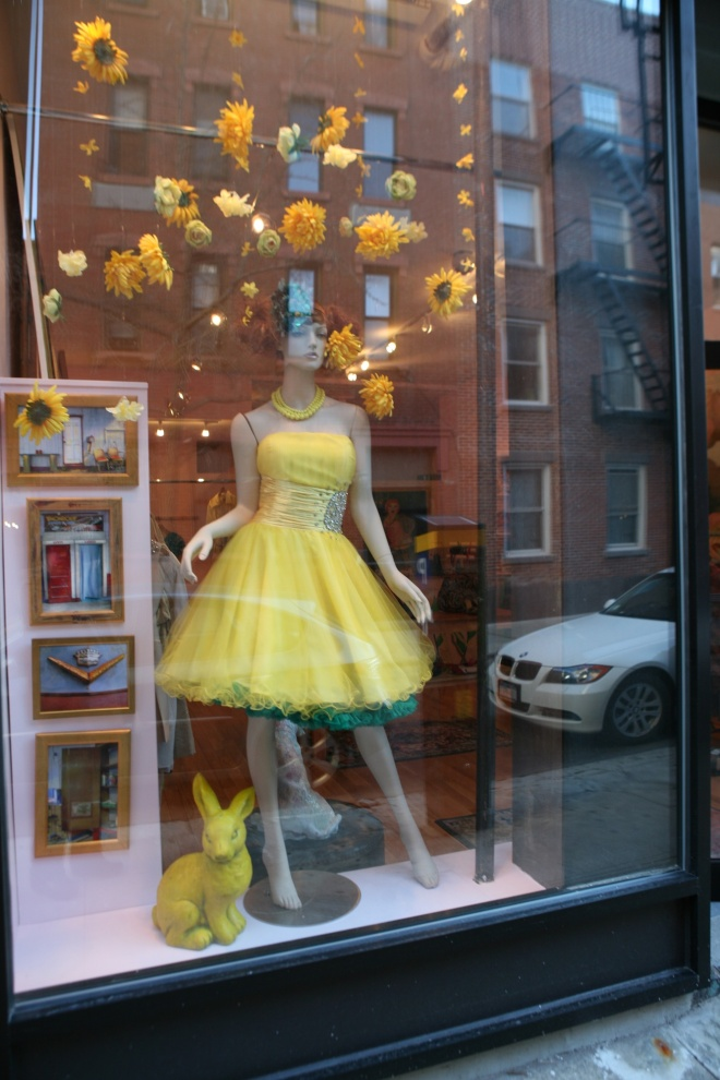 yellow dress at Easter