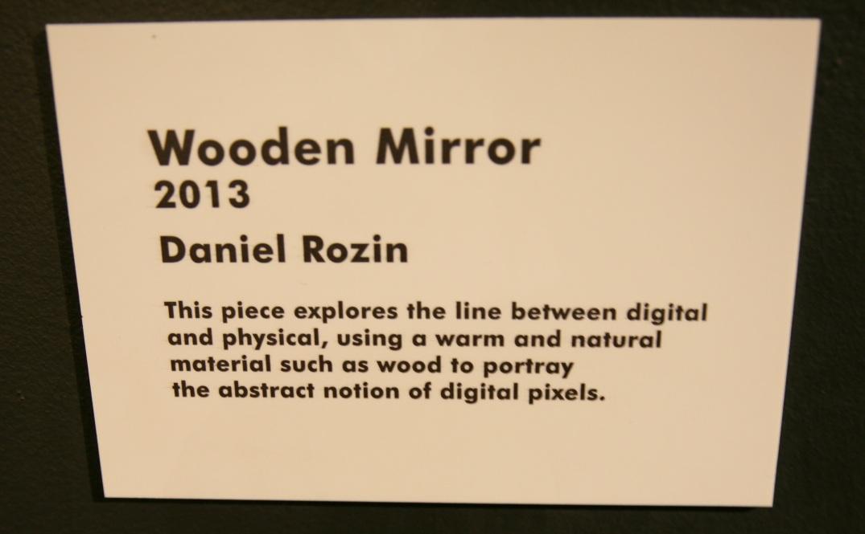 Wooden Mirror Daniel Rozin