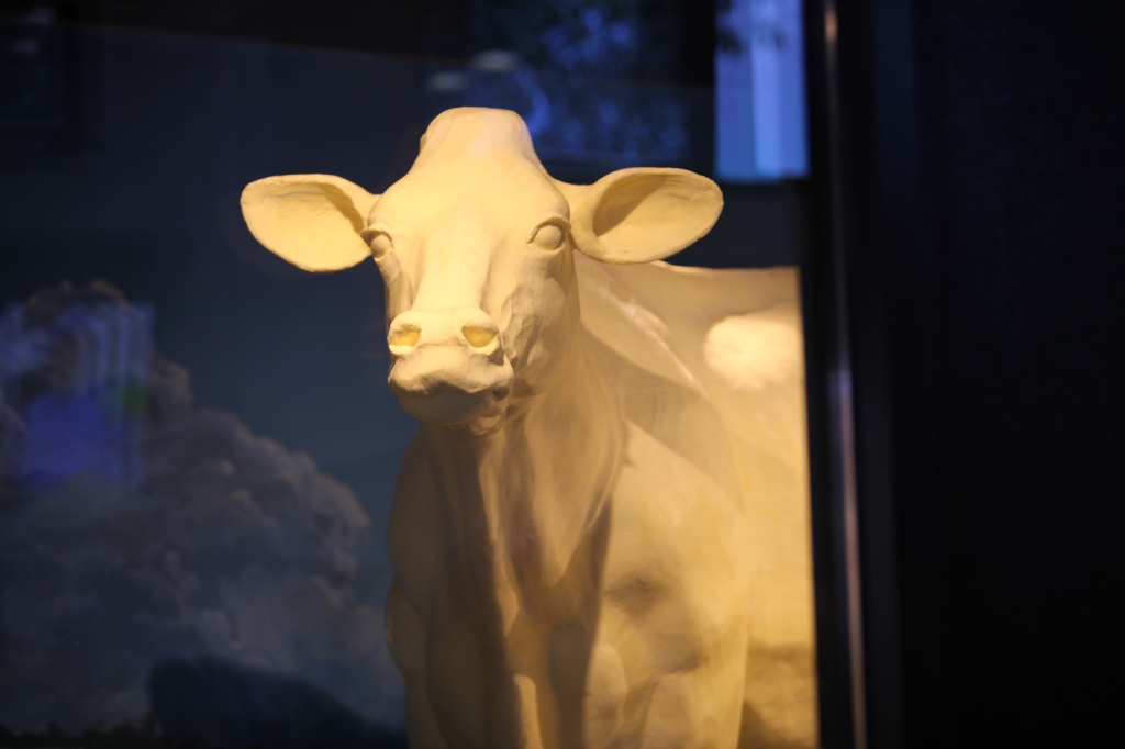 The butter cow at the Ohio State Fair