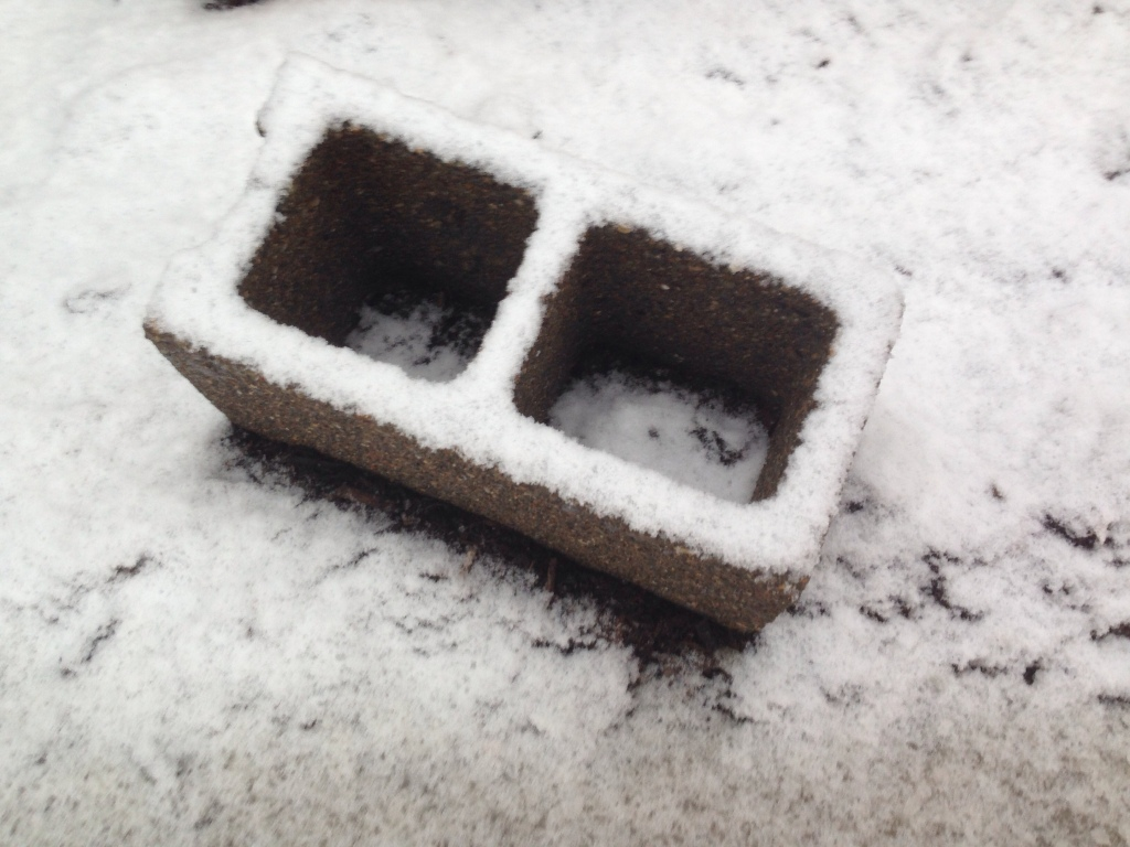 Cinderblock in the Snow