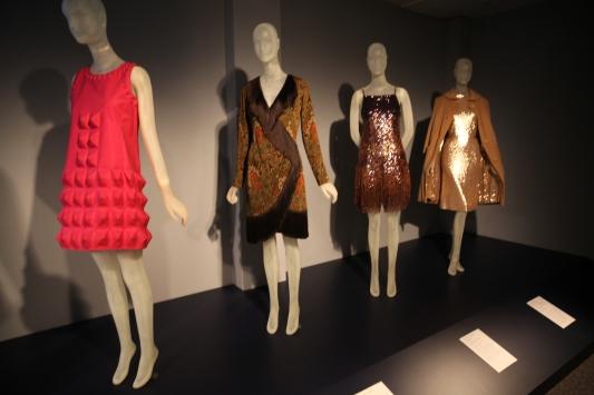 Cardin designed the fuschia dress