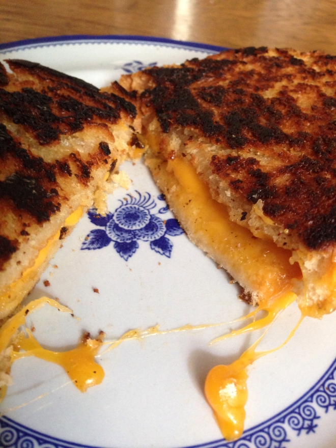 grilled cheese on a plate