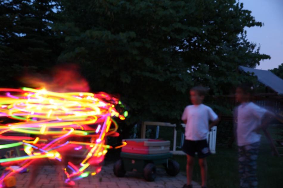hula hoop lights jack and michael watch anna