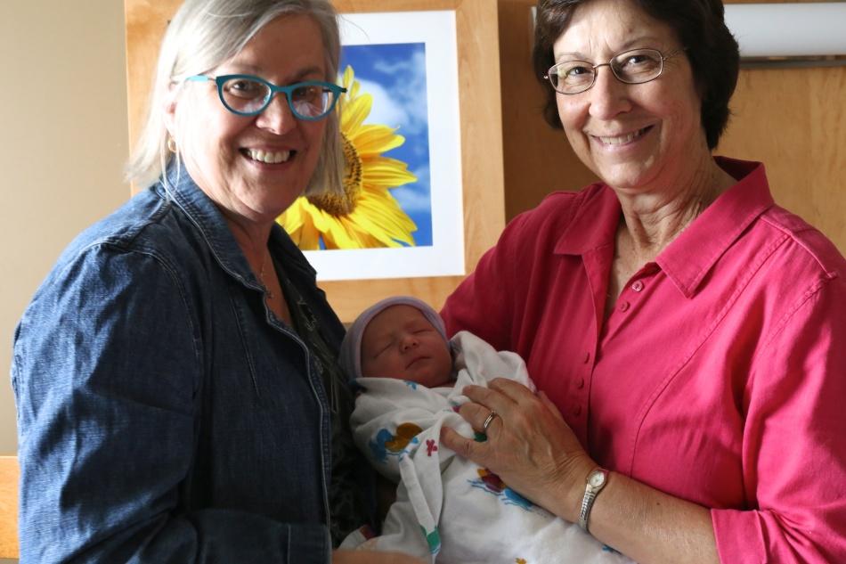 two grandmas with Charles