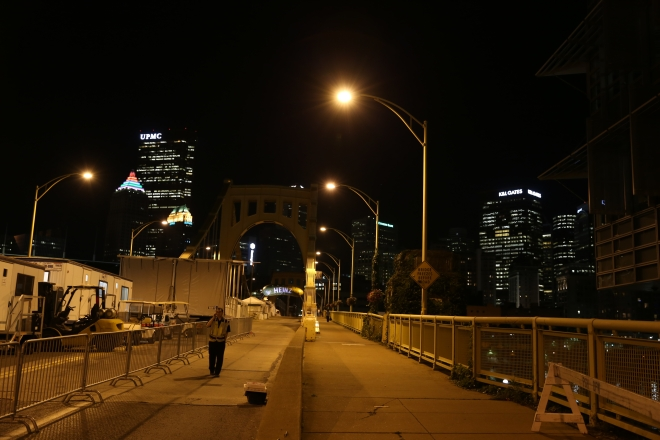 City at Night Ninth Street Bridge Patrol