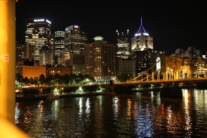 City at Night Ninth Street Bridge