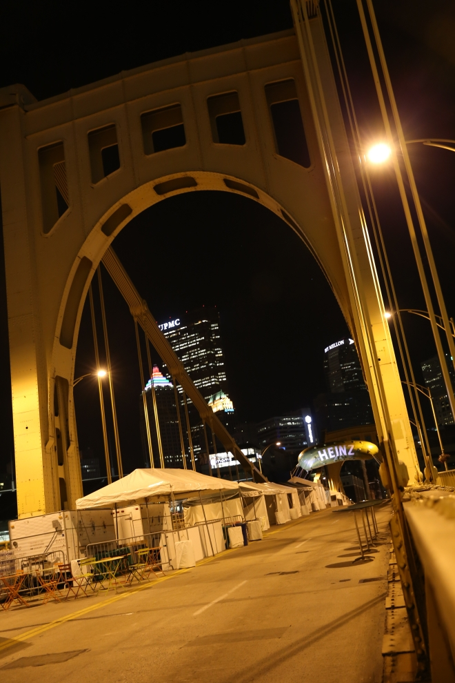 Pickle City at Night Ninth Street Bridge Patrol