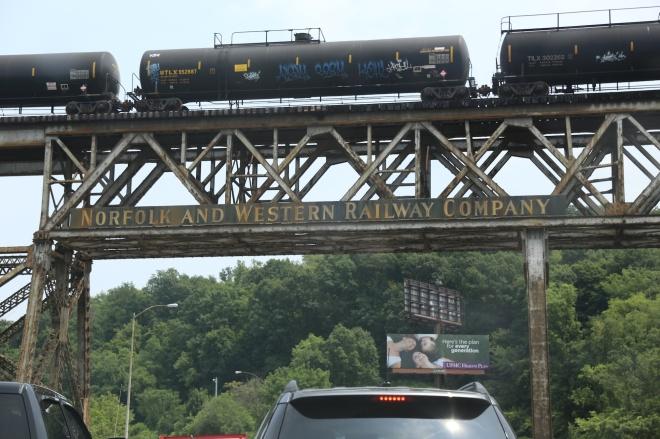train overhead