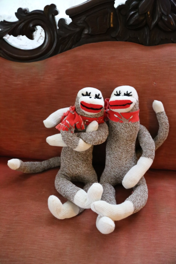 sock monkey duo