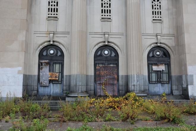 Larimer School doors