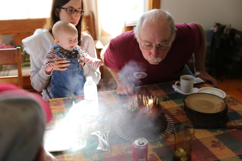 Grandpa Chuck celebrates his birthday