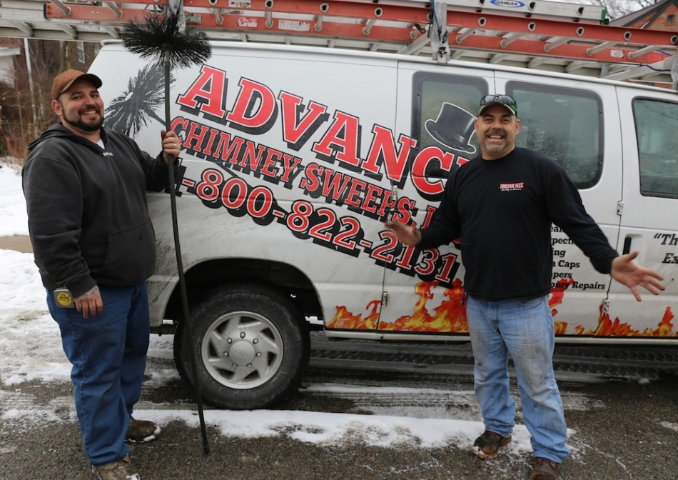 Jim and Chris Chimney Sweeps Truck