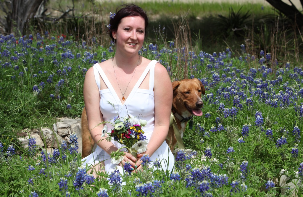 bluebonnets bride