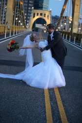 bride and groom bridge 719